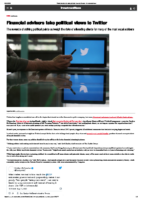 Financial advisers take political views to Twitter – InvestmentNews Aug 18 2020