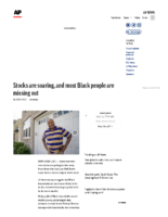 Stocks are soaring, and most Black people are missing out – Associated Press Oct 12 2020