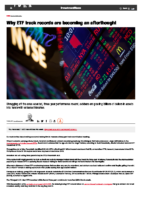 ETF track records are becoming an afterthought for advisers – Inv News June 9 2021